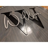 3D Family Name Sign with Established Date